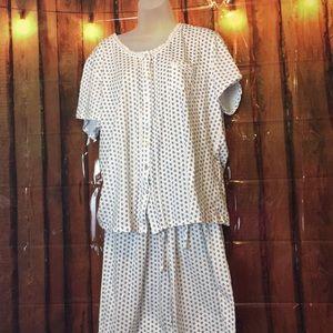 Aria women's plus size Capri pajamas